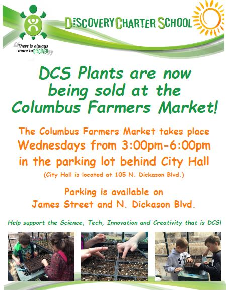 plant sale at Columbus farmers market